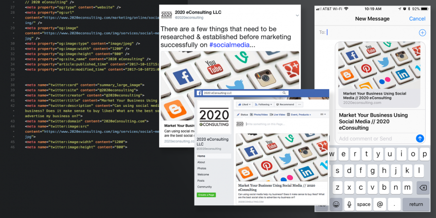 Optimize your website for social media and messages